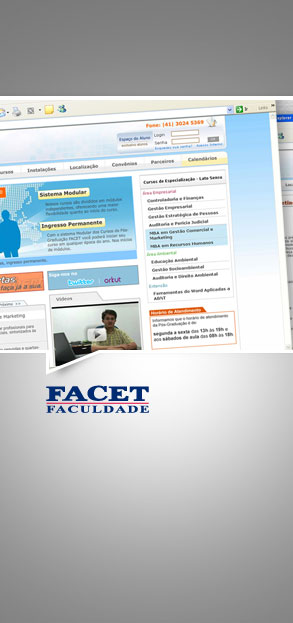Digitais - Site Facet 2011